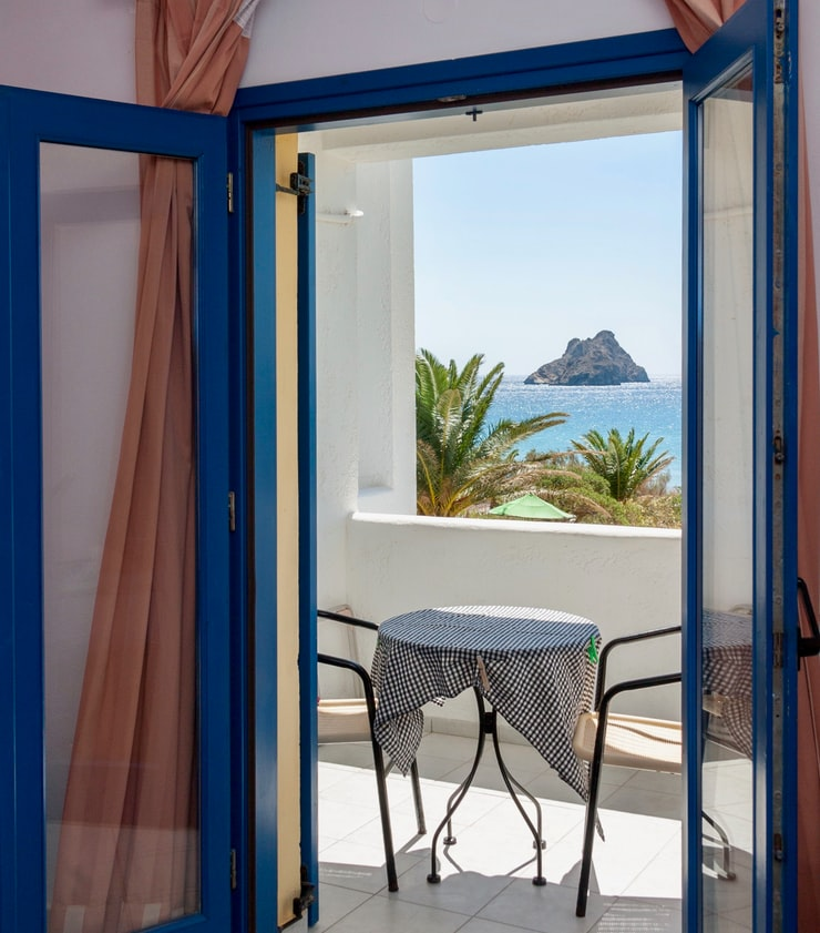 Blue French patio doors