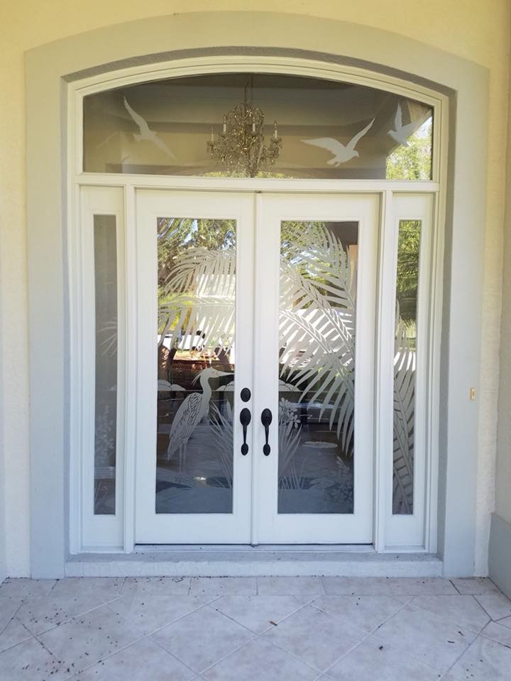 replacing your front door with white double entry
