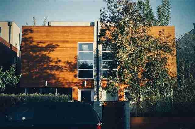 modern double-pane windows on house