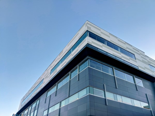 office building windows installation