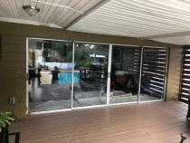 Sliding glass doors replacement!Another well done project by Crystal Clear Windows & Doors!
