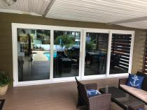 Sliding glass doors replacement!Have you ever wondered about the difference new sliding glass doors could bring to your indoor/ outdoor?! Another well done project by Crystal Clear Windows & Doors!